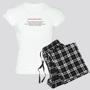 Powerful Womens Motto Pajamas